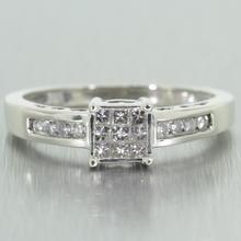 Stunning 14k White Gold Diamond 0.40CTW Engagement Ring Jewelry