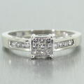 Stunning 14k White Gold Diamond 0.40CTW Engagement Ring Jewelry