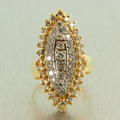 Charming Ladies Vintage 14K Yellow Gold Diamond 1.50CTW Cocktail Ring Jewelry