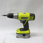 Ryobi One+ P1872 Lithium 4 Piece Drill Sawzall Circular Saw,Flashlight 18V Combo Kit