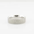 Authentic Tiffany&Co Metro 5 Row Round Diamond 18K White Gold Eternity Band Ring