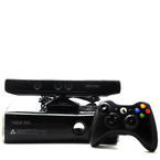 Microsoft Xbox 360 1439 250GB Slim Video Game Console Glossy Black With Kinect