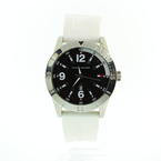TOMMY HILFIGER by MOVADO Men's White Rubber Strap Date Watch