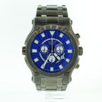 Men's Renato Robusto 50 Chrono Gunmetal IP Steel Blue Dial Watch