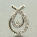 Charming Ladies 10K White Gold Diamond 0.45CTW Drop Pendant Jewelry