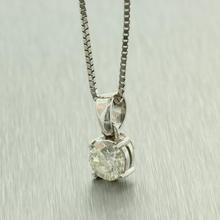 Scintillating Ladies 14K White Gold Diamond 0.65CTW Chain Pendant Jewelry