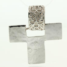 Unique Vintage 925 Sterling Silver Cross Pendant Jewelry