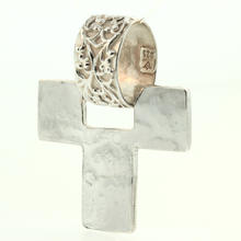 Unique Vintage 925 Sterling Silver Cross Pendant Jewelry