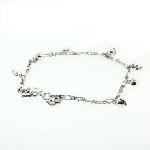 "Charming Ladies 925 Silver  9"" Bear Dangle Sterling Silver Anklet Jewelry"
