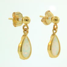 Charming Ladies 14K Yellow Gold Opal 0.35CTW Drop Earrings Jewelry