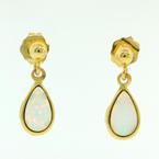 Charming Ladies 14K Yellow Gold Opal 0.35CTW Drop Earrings Jewelry