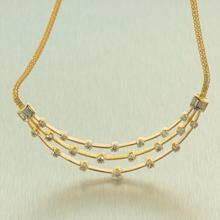 "Retro Vintage Estate 18K Yellow Gold Diamond 1.65CTW 16"" Choker Necklace Jewelry"