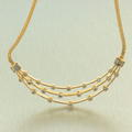 "Retro Vintage Estate 18K Yellow Gold Diamond 1.65CTW 16"" Choker Necklace Jewelry"