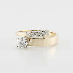 Stellar 14K Yellow Gold Round Transitional Diamond Bypass Engagmement Wedding Ring