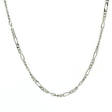 "Lustrous 925 Sterling Silver Figaro 19"" Chain Jewelry"