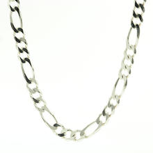 "Lustrous 925 Sterling Silver Figaro 18"" Chain Jewelry"