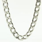 "Handsome Men's 925 Silver 22"" Cuban Link Chain Jewelry"