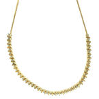 "Womens Vintage 18K Yellow Gold Diamond 2.25CTW 18"" Necklace Jewelry"