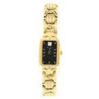 Lovely Bulova Ladies 97P72 Gold Tone Diamond Dial Wrist Watch