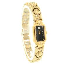 Lovely Bulova Ladies 97P72 Gold Tone Diamond Dial Wrist Watch