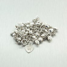 Charming Ladies Sterling Silver 925 Charm Anklet Jewelry