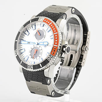 Authentic Ulysse Nardin Maxi Marine Diver Titanium Mens Watch