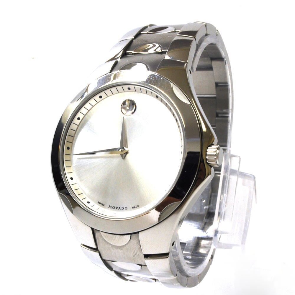 silver i swiss movado sport tone luno watch tradesy watches