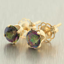 NEW Modern 14K Yellow Gold Mystic Topaz 0.40CTW Stud Earrings