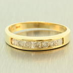Classic 14K Yellow Gold Natural Diamond 0.50CTW Wedding Ring Band
