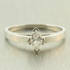 Classic Platinum Marquise Diamond 0.50CTW VS Engagement Cathedral Ring