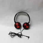 Sony Red Headphones Sound Monitoring Genuine Long Cord Stereo