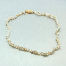 "Classic Vintage Estate 14K Yellow Gold Keshi Pearl 13"" Necklace"
