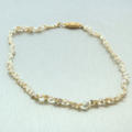 """Classic Vintage Estate 14K Yellow Gold Keshi Pearl 13"""" Necklace"""