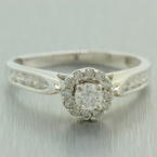 Modern Ladies 14K White Gold Natural Diamond 0.65CTW Engagement Ring