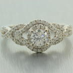 Modern Classic 14K White Gold Natural Diamond 1.25CTW Engagement Ring