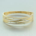 Retro Vintage Estate 14K Yellow Gold Round Diamond 1.50CTW Bangle