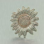 925 silver sunflower ring 4.4