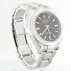 Authentic Rolex Oyster Perpetual Milgauss Black Dial Mens Watch 116400 BKO