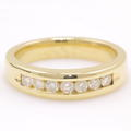Classic Men's 14K Yellow Gold Diamond Wedding Ring Band