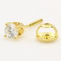 Classic Modern Estate 14K Yellow Gold Diamond VS 0.25CTW Single Stud Earring