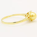Vintage Estate Classic 14K Yellow Gold  Golden Pearl Right Hand Ring