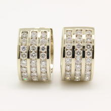 NEW Classic 14K White Gold Natural Diamond 1.65CTW Huggie Earrings