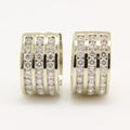 NEW Classic 14K White Gold Natural Diamond 1.65CTW Huggie Earrings
