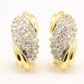 Retro Vintage Estate 14K Yellow Gold Diamond 1.10CT Huggie French Back Earrings