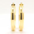 NEW Classic 18K Yellow Gold Smooth High Polished Hollow Hoop Earrings