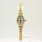 "Estate Vintage Michael Anthony Mother of Pearl 14K Yellow Gold Rope 7"" Watch"