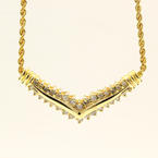 "Retro Vintage Estate 14K Yellow Gold Diamond 18"" Rope  Necklace"