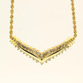"Retro Vintage Estate 14K Yellow Gold Diamond 18"" Rope  Necklace"