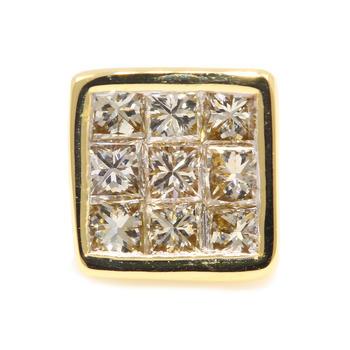 Fine Estate 14K Yellow Gold Diamond 1/5CTW Single Stud Push Back Earring