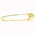 Rare Vintage Estate 14K Yellow Gold Safety Pin Nappy Pin Brooch Charm Holder